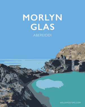 Morlyn Glas Sir Benfro Travel Poster Posteri Teithio