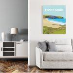 Framed Poppit Sands Pembrokeshire Beach Poster