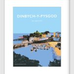 Welsh Poster Dinbych-y-pysgod