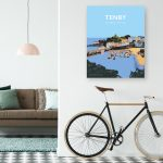 Tenby Travel Poster