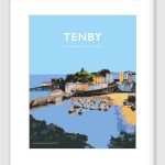 Tenby Welsh Poster
