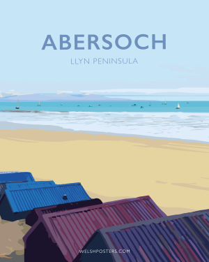 Abersoch Travel Poster