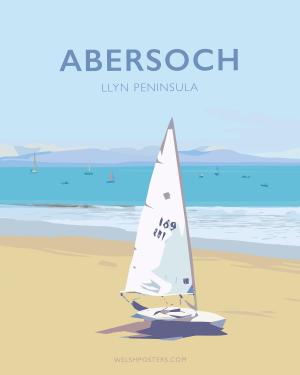 Abersoch Travel Poster Sailing Llyn Peninsula