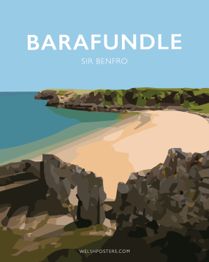 barafundle sir benfro Posteri Teithio Travel Posters Welsh Posters