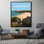 Barafundle travel poster