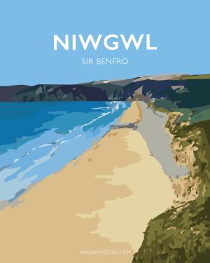 niwgwl sir benfro Posteri Teithioposters prints