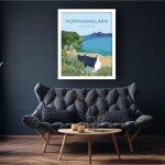 porthdinllaen ty coch welshposters art llyn peninsula lyn wales framed poster
