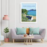 porthdinllaen ty coch welshposters art llyn peninsula wales framed poster