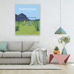 Porthgain Football Travel Poster