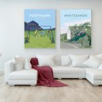 Porthgain Posters - Football and Whitesands