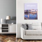 aberaeron harbour poster ceredigion travel posters