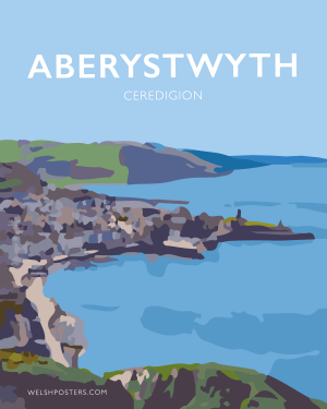aberystwyth poster ceredigion travel art prints welsh posters web