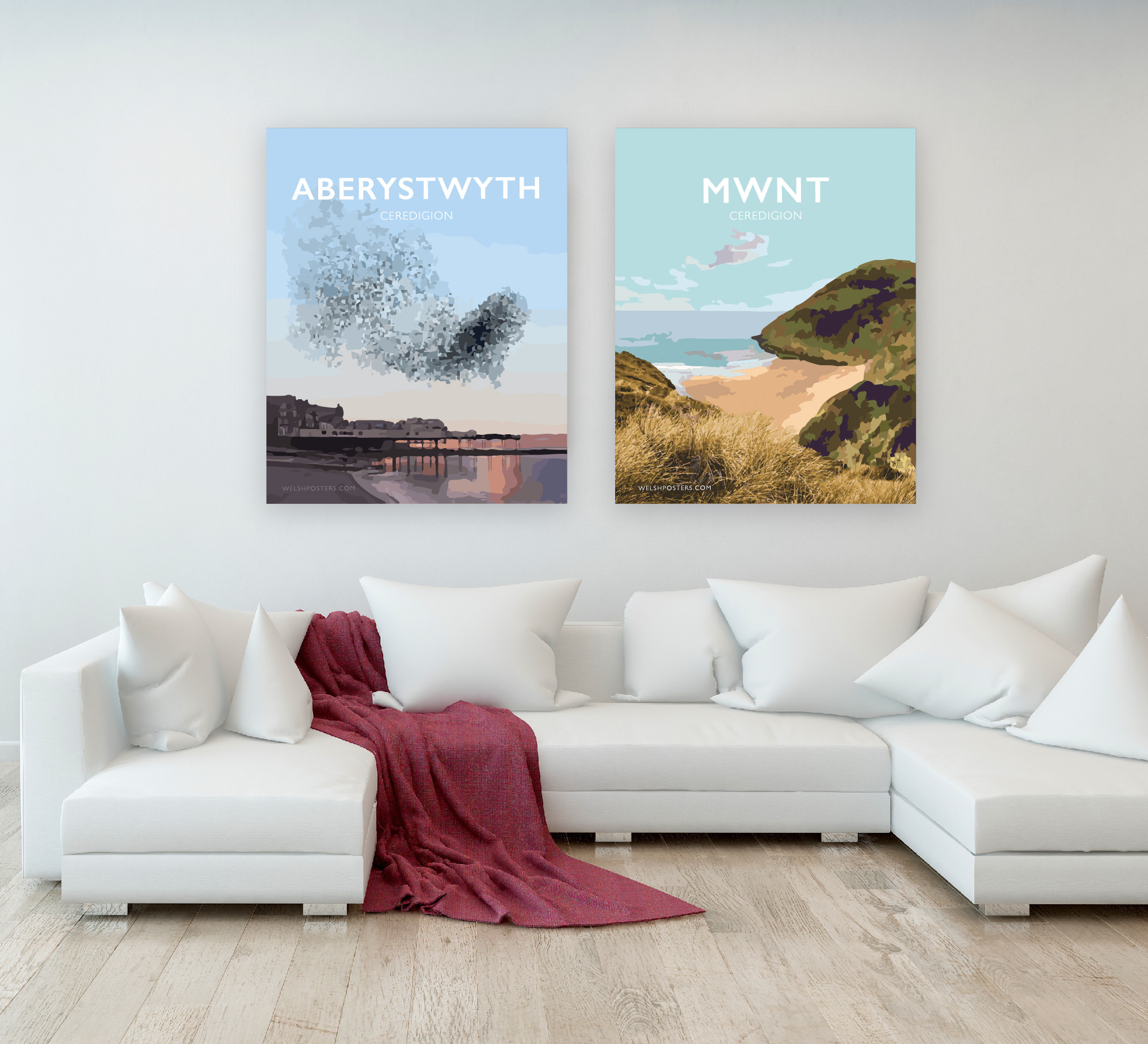 aberystwyth pier starlings poster ceredigion travel posters prints welsh web