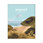 mwnt beach poster ceredigion framed travel posters