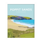 Framed Poppit Sands Poster