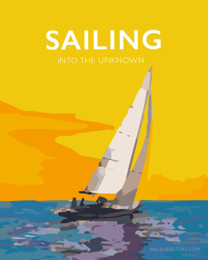 sailing quote poster retro sailing posters modern sailing posterdesign
