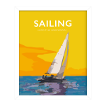 sailing quote poster retro sailing posters modern sailing posterdesign framed poster