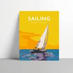 Sailing Poster - Metal Print Vintage Sailing boat poster