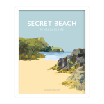 Secret beach welsh poster framed print pembrokeshire