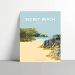Secret beach welsh poster metal print pembrokeshire