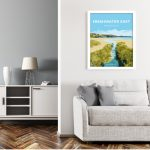 freshwater east pembrokeshire vintage welsh poster print wales