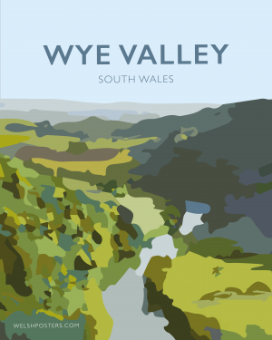 wye valley river wye welsh poster print wales travel posters prints