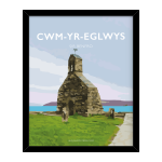 cwm yr eglwys sir benfro pembrokeshire sir benfro welsh posters framed poster travel poster railway