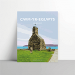 cwm yr eglwys sir benfro pembrokeshire sir benfro welsh posters framed metal print welsh language