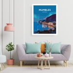 mumbles swansea bay poster gower vintage welsh poster print wales travel posters