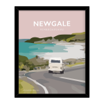 newgale road van view pembrokeshire welsh posters travel poster