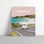 newgale road room pembrokeshire welsh posters travel poster