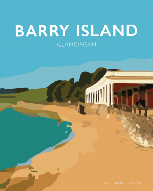 barry island poster gavin stacey welsh poster print wales travel vintage style