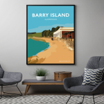 barry island poster gavin stacey welsh poster print wales travel posters