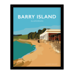 barry island poster gavin stacey welsh poster print wales travel framed vintage style