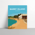 barry island poster gavin stacey welsh poster print wales travel metal print