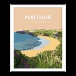 porthor frame llyn poster welsh poster print wales travel posters