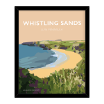 whistling sands llyn poster welsh poster print wales travel posters