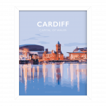 cardiff framed poster mermaid quay travel poster wales welsh cardiff city welsh posters