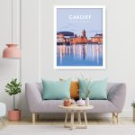 cardiff mermaid quay travel poster wales welsh cardiff city welsh posters