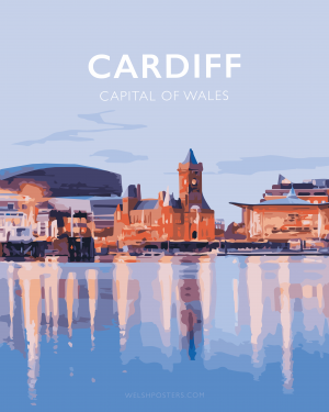 cardiff poster mermaid quay travel poster wales welsh cardiff city welsh posters