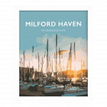milford haven white frame pembrokeshire welsh posters travel poster vintage style railway