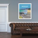 newgale pembrokeshire road beach print coast wales west south poster welsh posters travel railway