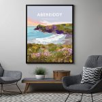 abereiddy framed poster pembrokeshire abereiddi coast wale poster welsh posters travel