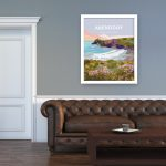 abereiddy framed poster pembrokeshire abereiddi coast wale poster welsh posters travel blue lagoon