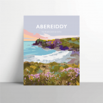 abereiddy panel pembrokeshire abereiddi coast wales west south poster welsh posters travel railway