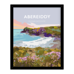 abereiddy framed poster pembrokeshire abereiddi coast wales west south poster welsh posters travel railway