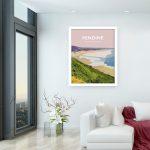 pendine carmarthenshire welsh poster print wales travel posters prints railway vintage beach sands framed
