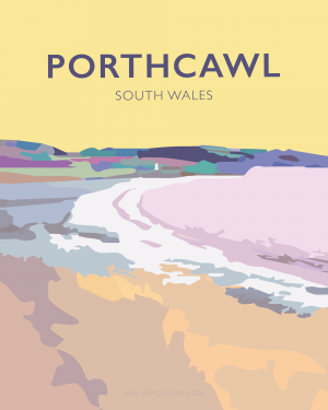 porthcawl beach glamorgan welsh poster wales travel posters railway vintage