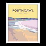 porthcawl beach glamorgan welsh poster wales travel posters railway vintage pastel framed print
