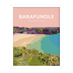 Barafundle Bay Framed Poster pembrokeshire beach pembs nationalpark print coastal wales west south poster welsh posters travel railway